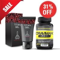 Giảm 31% Combo Gel Titan Nga và viên uống Cravimax-pro